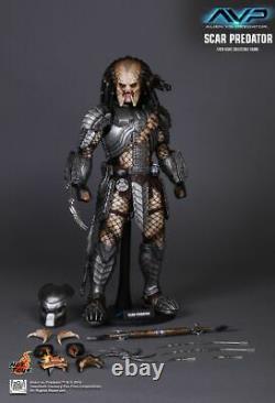 NEW Hot Toys MMS190 Alien vs. Predator AVP Scar Predator 1/6 Action Figure UK