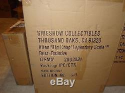 NEW SIDESHOW EXCLUSIVE ALIEN BIG CHAP LEGENDARY SCALE BUST-NRFB-VHTF