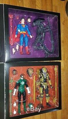 Neca 2019 Sdcc Nycc Alien Superman Batman Predator Green Lantern Set