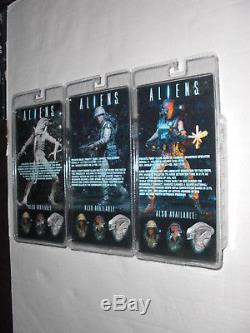 Neca Aliens Series 9 Set Of 3 Jenette Vasquez Xenomorph Albino Drone Ricco Frost
