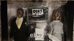 Neca They Live, John Nada & Alien 2 Pack 8 Clothed Figures, Brand New