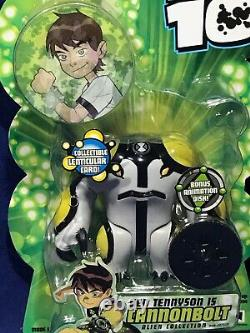 New CANNONBOLT Ben 10 4 Figure 2006 SERIES 1 with Disk LENTICULAR CARD #27215