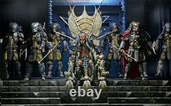 New Predator Clan Leader Alien Bone Throne PVC Action Figures Ornaments Gift Box