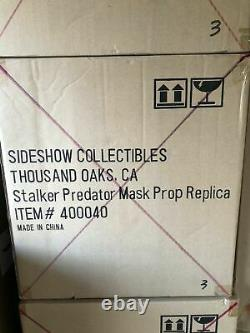 New SIDESHOW STALKER PREDATOR LIFE SIZE MASK STATUE LIFE 11 SIZE Prop Replica