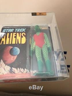 Original Mego Star Trek Aliens Neptunian Action Figure 1975 UNPUNCHED AFA 50
