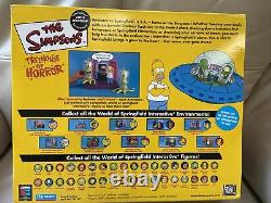 Playmates The Simpsons Treehouse of Horror. Alien Spaceship Kodos Kang Homer