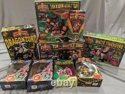 Power Rangers LOT Tor White Tigerzord Green Dragon Assault Team Pink Alien