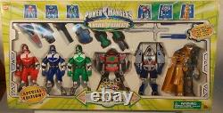 Power Rangers Time Force Combo Gift Pack Space Alien Frax Megazord Red Blue Gree