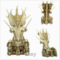 Predator Clan Leader Alien Bone Throne Action Figures PVC Diorama Element Gift