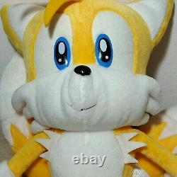 Rare SEGA 2003 Sonic X TAILS BIG 13.5 Hedgehog Plush Toy UFO Prize Japan TAG