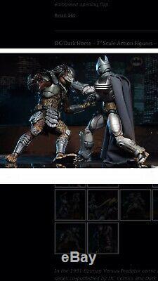 SDCC 2019 NECA DC Dark Horse 7 BATMAN VS PREDATOR 2-PACK SET IN HAND