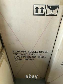 SIDESHOW SUPER PREDATOR SKULL SIZE MASK STATUE LIFE 11 SIZE Replica Maquette