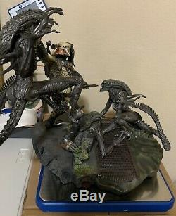 Sideshow Collectibles Alien VS Predator Requiem POLYSTONE DIORAMA Maquette AVP