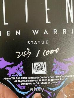 Sold Out Sideshow Alien Warrior Statue