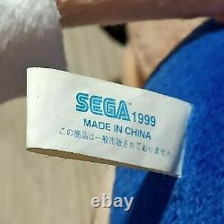 Sonic ADVENTURE Sega 1999 The Hedgehog UFO Prize XL Plush Toy Doll Japan 15.5