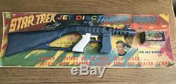 Star Trek 1966 Set Of 3 Rayline Rifle & Pistol & Discs In Wrapper Mego Remco