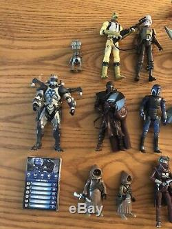 Star Wars The Clone Wars Action Figure Lot Bounty Hunters/Aliens Collectibles