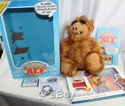 Vintage 1987 Talking ALF Storytelling Plush Doll CIB VGC & Extra NEW Tapes/Books
