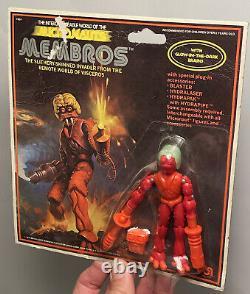 Vintage Mego Micronauts 1979 Alien Membros Green Brain Mint On Card MOC Beauty