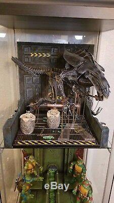 Xenowerx Alien Detolf Diorama Stand AVP Predator Neca Xenomorph